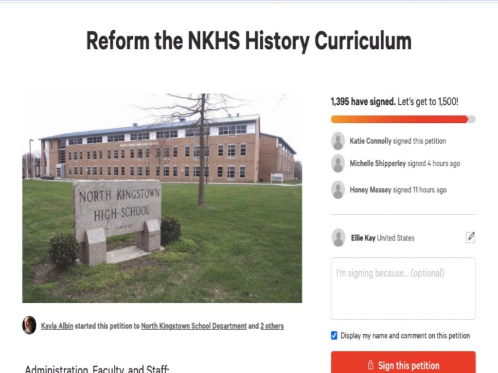 Former Students Create Petition To Change History Curriculum At North Kingstown High School