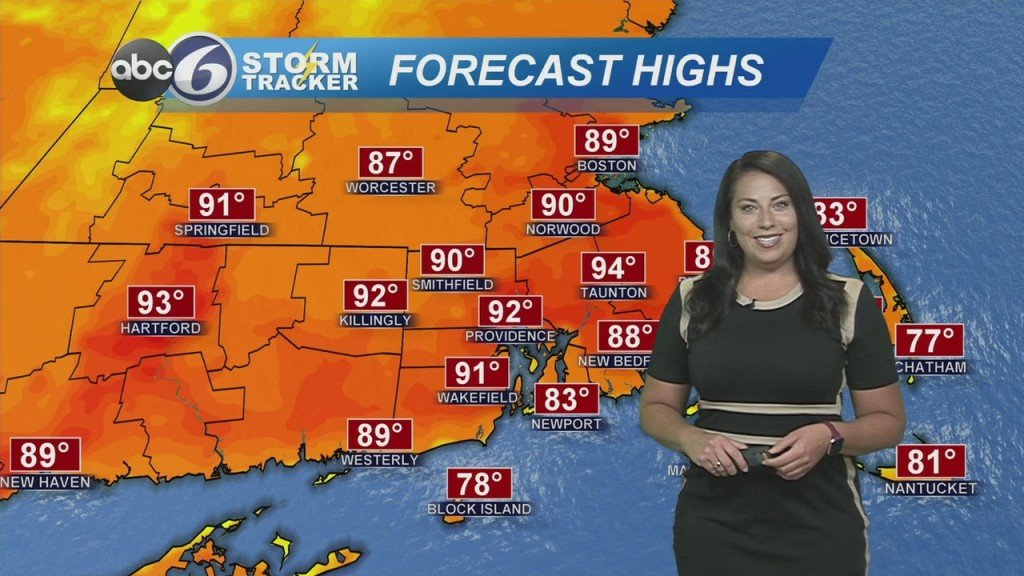 Another Hot Day Ahead But Feeling Less Humid