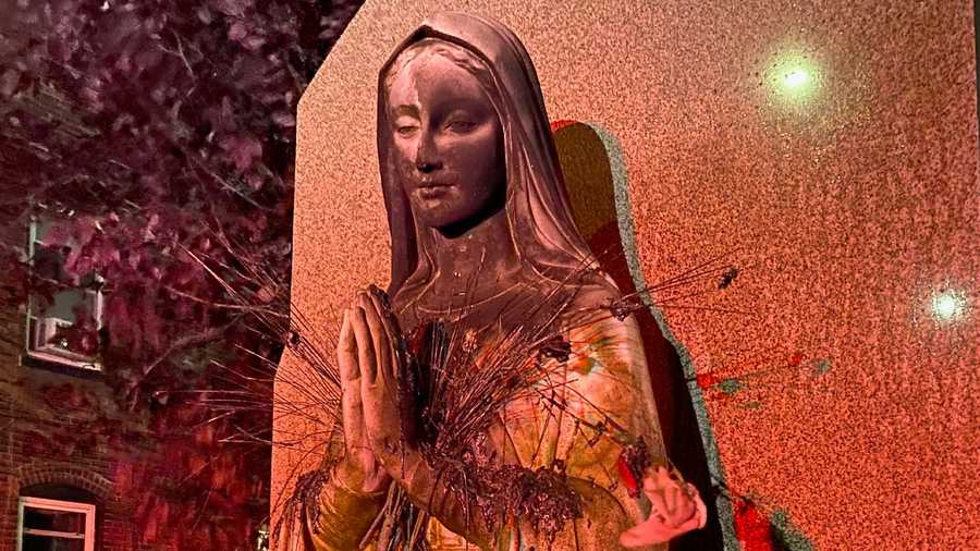 Burned Virgin Mary Statue Boston 1594566224