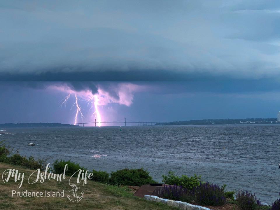 Lightning Over Mt. Hope Bridge Jennifer Munroe Gempp