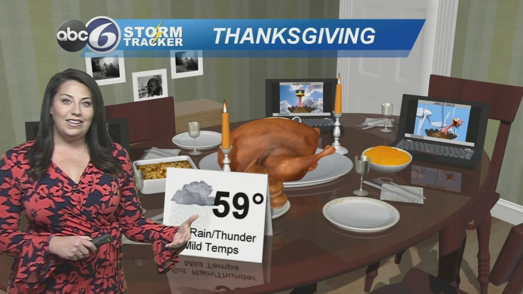 Rain & Thunderstorms For Thanksgiving
