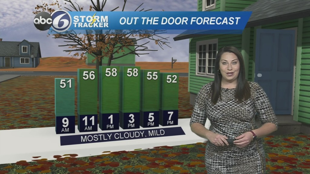 Mostly Cloudy But Mild Today