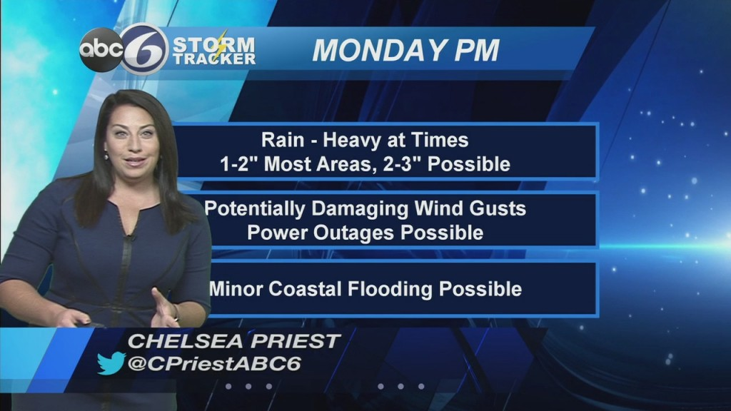 Heavy Rain & Gusty Winds To Start The Week
