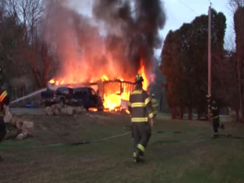 Burillville Garage Fire