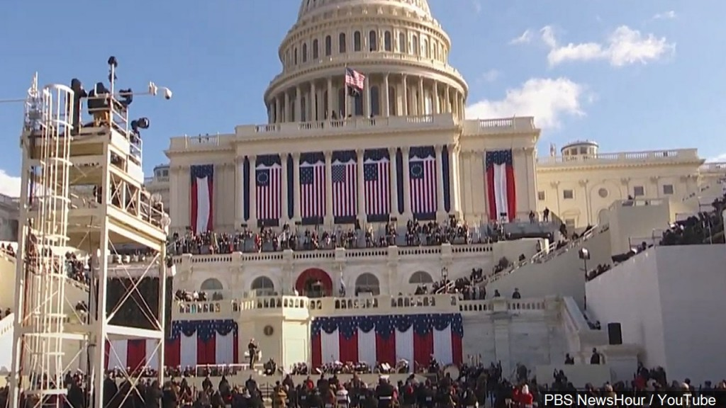 Scaled down inauguration under high security.