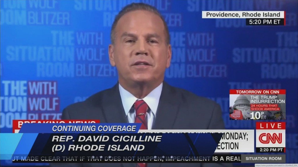 Cicilline Speaks Out On Efforts To Impeach President Trump