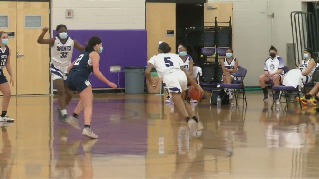 St. Raphael Holds Off South Kingstown In Girls Hoops