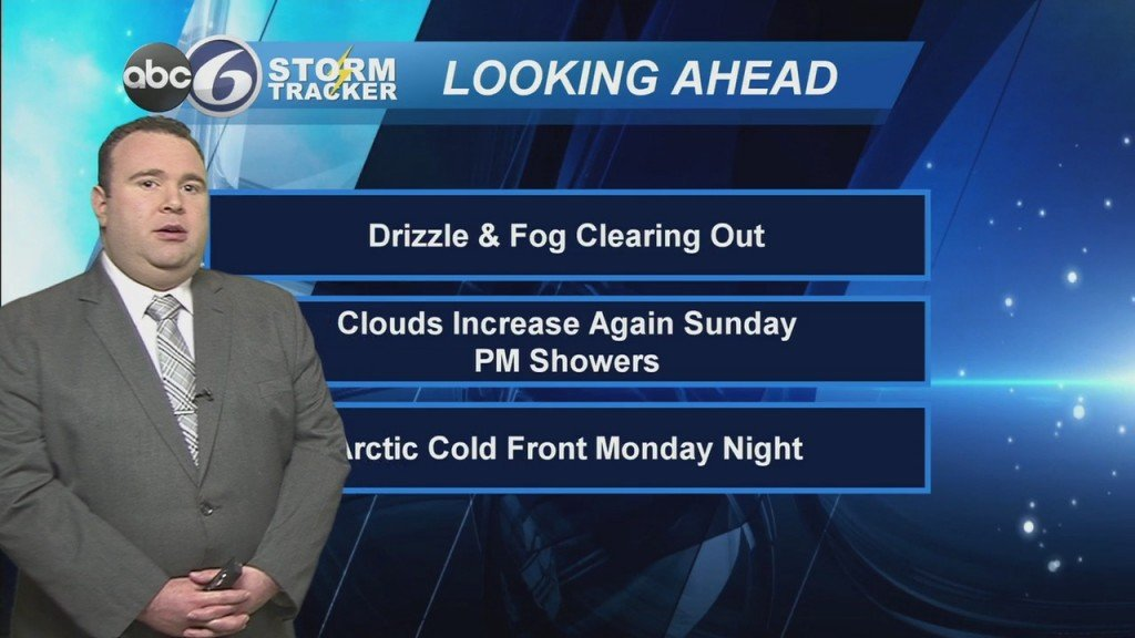 Clearing Out Saturday Night, Clouds & Showers Return Sunday