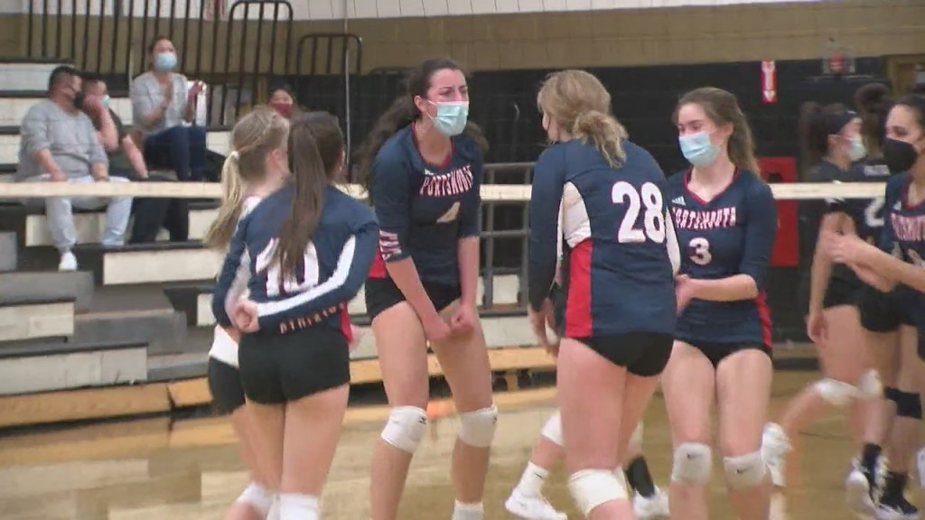 Portsmouth Girls Volleyball Rallies For Road Win At Pilgrim