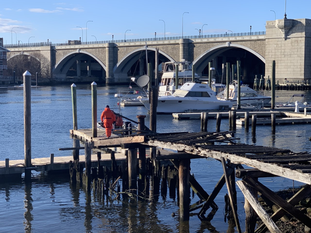 Water search underway for man who fell off docks near East Providence Yacht Club | ABC6