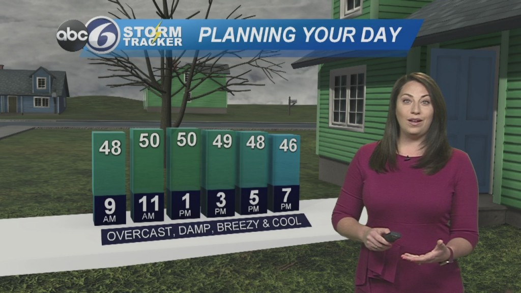 Cloudy, Damp And Cool To Start The Work Week