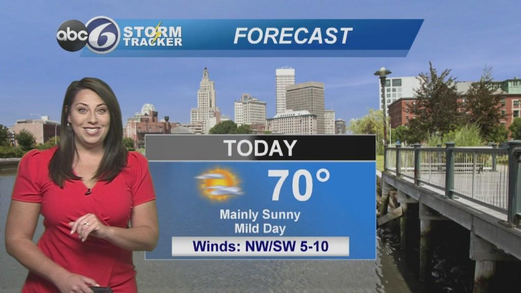 Sunny & Warm Today
