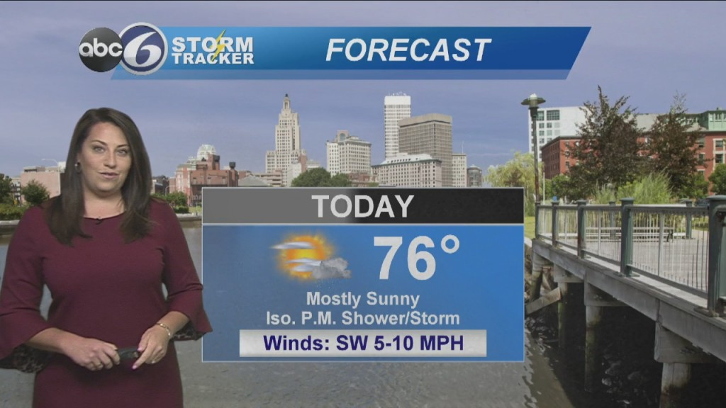 Warm Today With A Few Afternoon Showers