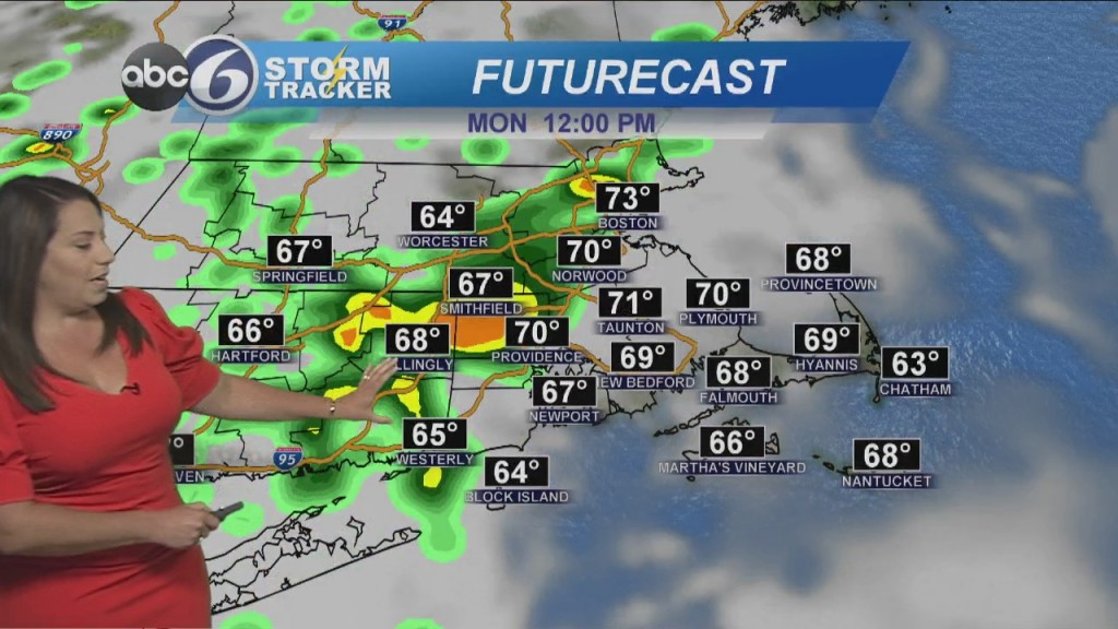 Scattered Rain And Storms Move In Later Today
