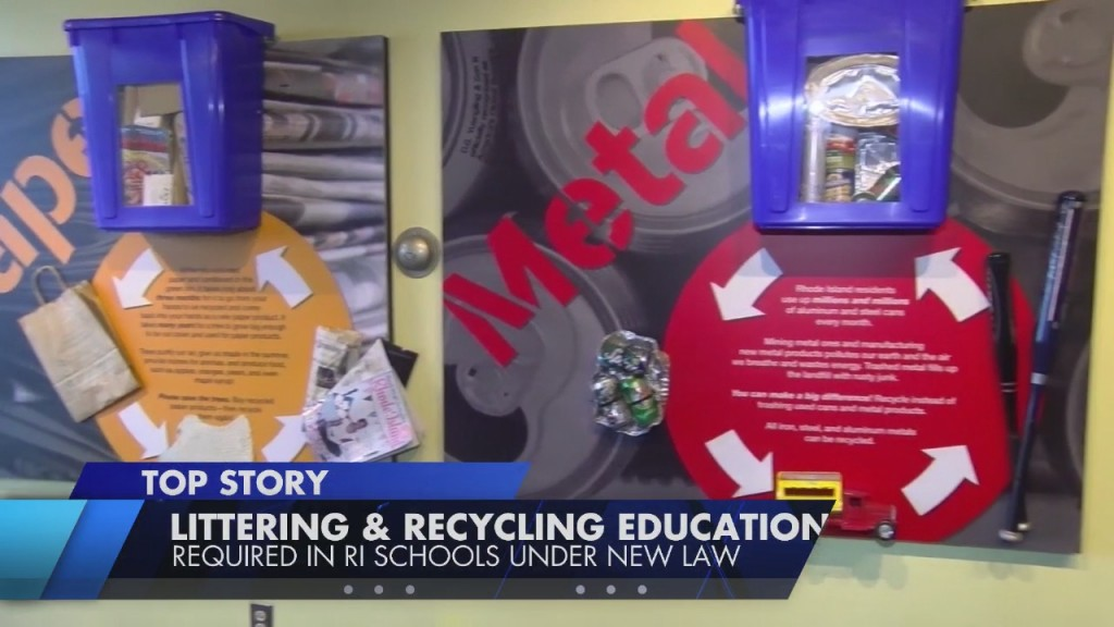 Gov. Mckee Signs Bill Into Law Requiring Litter Prevention & Recycling Awareness Education In Ri Schools