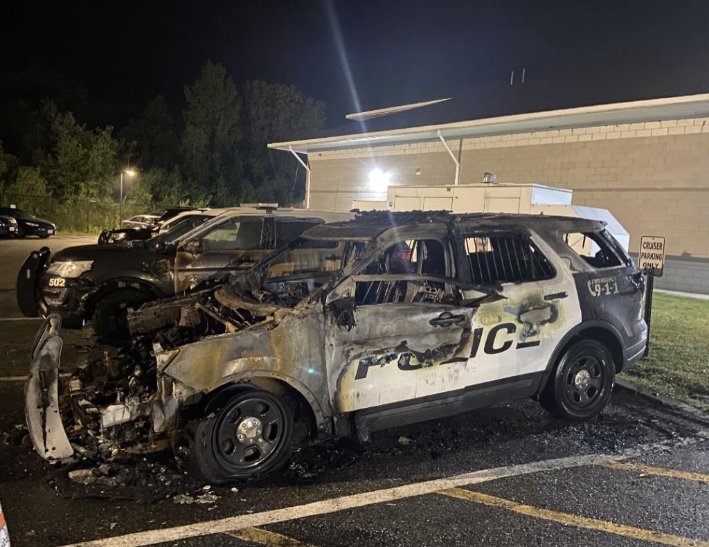 Dracut Police Cruiser Fire 01
