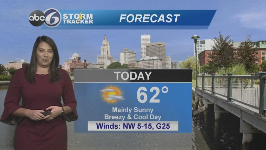 Breezy & Cool Today, Warmer Tomorrow