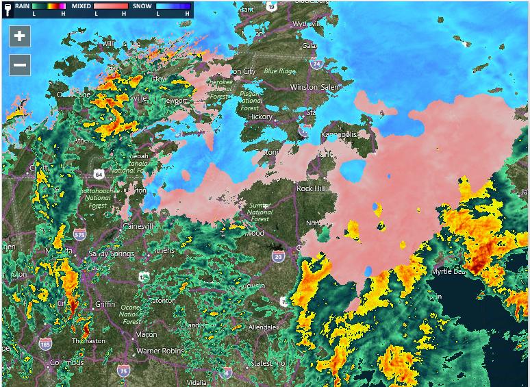 Watch Winter Weather Update Midday ABC Columbia - Doppler radar columbia sc