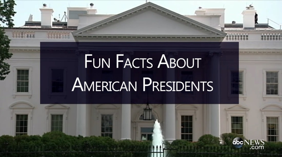 Watch fun facts about american presidents abc columbia for Fun facts about the presidents
