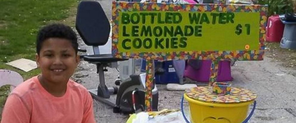 9 Year Old Boy Sets Up Lemonade Stand To Raise Funds For