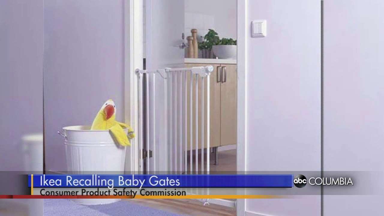 Ikea Alang Floor Lamp Nickel Plated Gray ~ Watch Baby Gate Recall  ABC Columbia