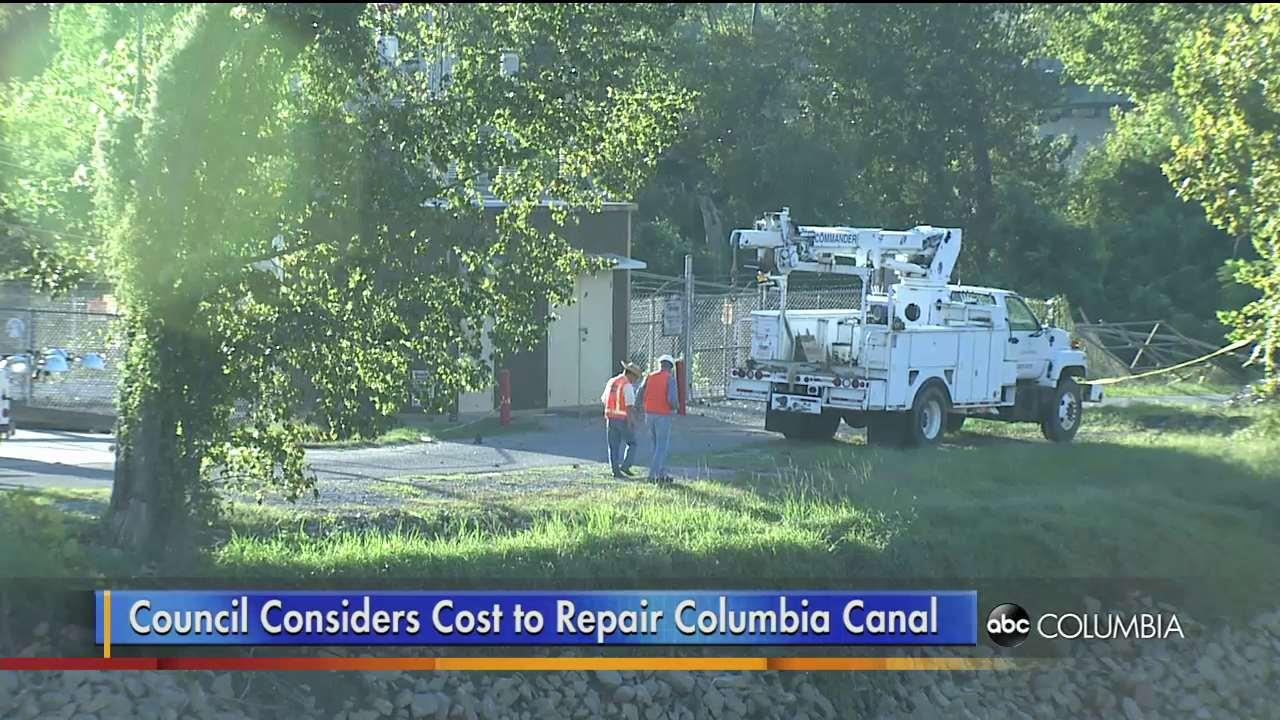 watch council considers repairs to columbia canal abc columbia. Black Bedroom Furniture Sets. Home Design Ideas