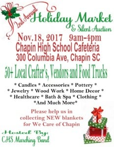2nd Annual Chapin bands Holiday market @ Chapin High School Cafeteria | Chapin | South Carolina | United States