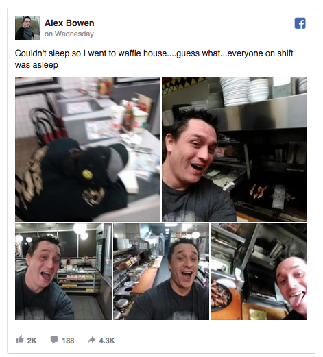 Man cooks own meal at restaurant while staff was asleep