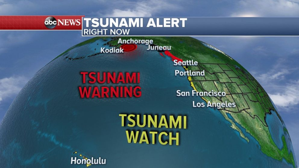 Massive earthquake off coast of Alaska triggers tsunami