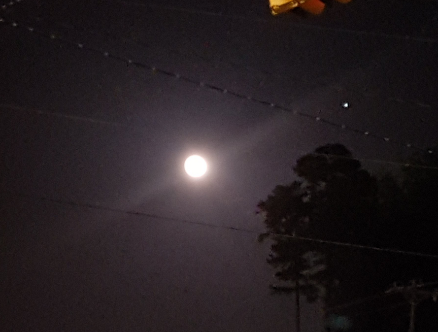 what s the bright star next to moon abc columbia
