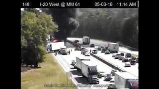 SCDOT clear all lanes of I-20 after deadly 10 car pile up - ABC Columbia