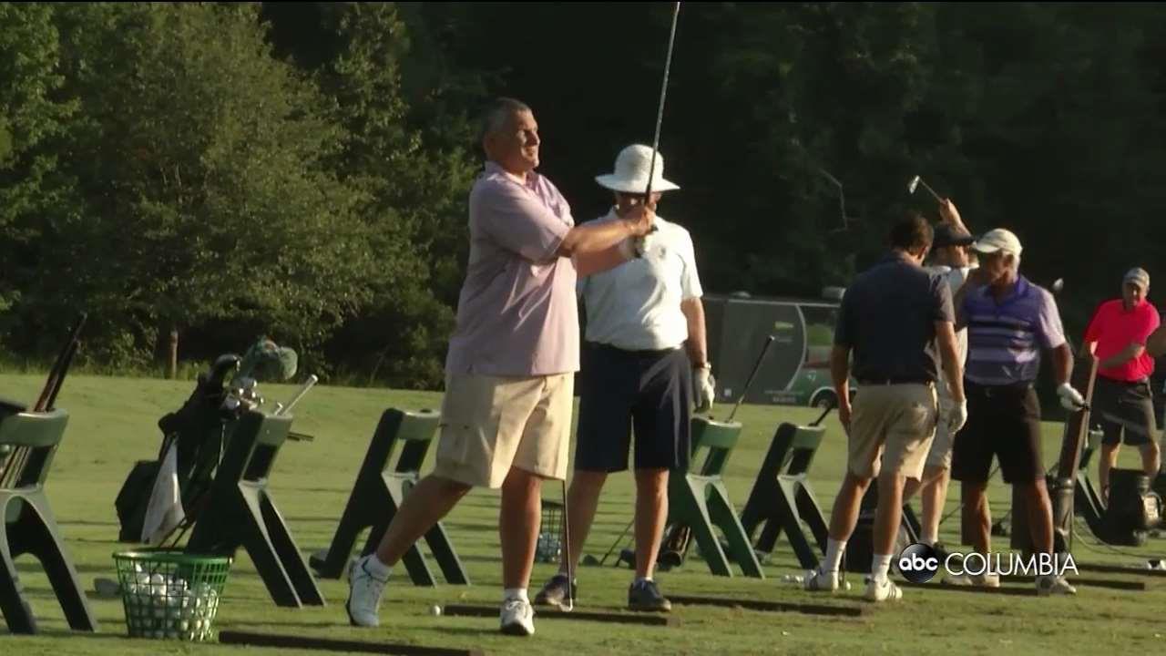Frank Martin plays in Peach Jam golf tournament - ABC Columbia