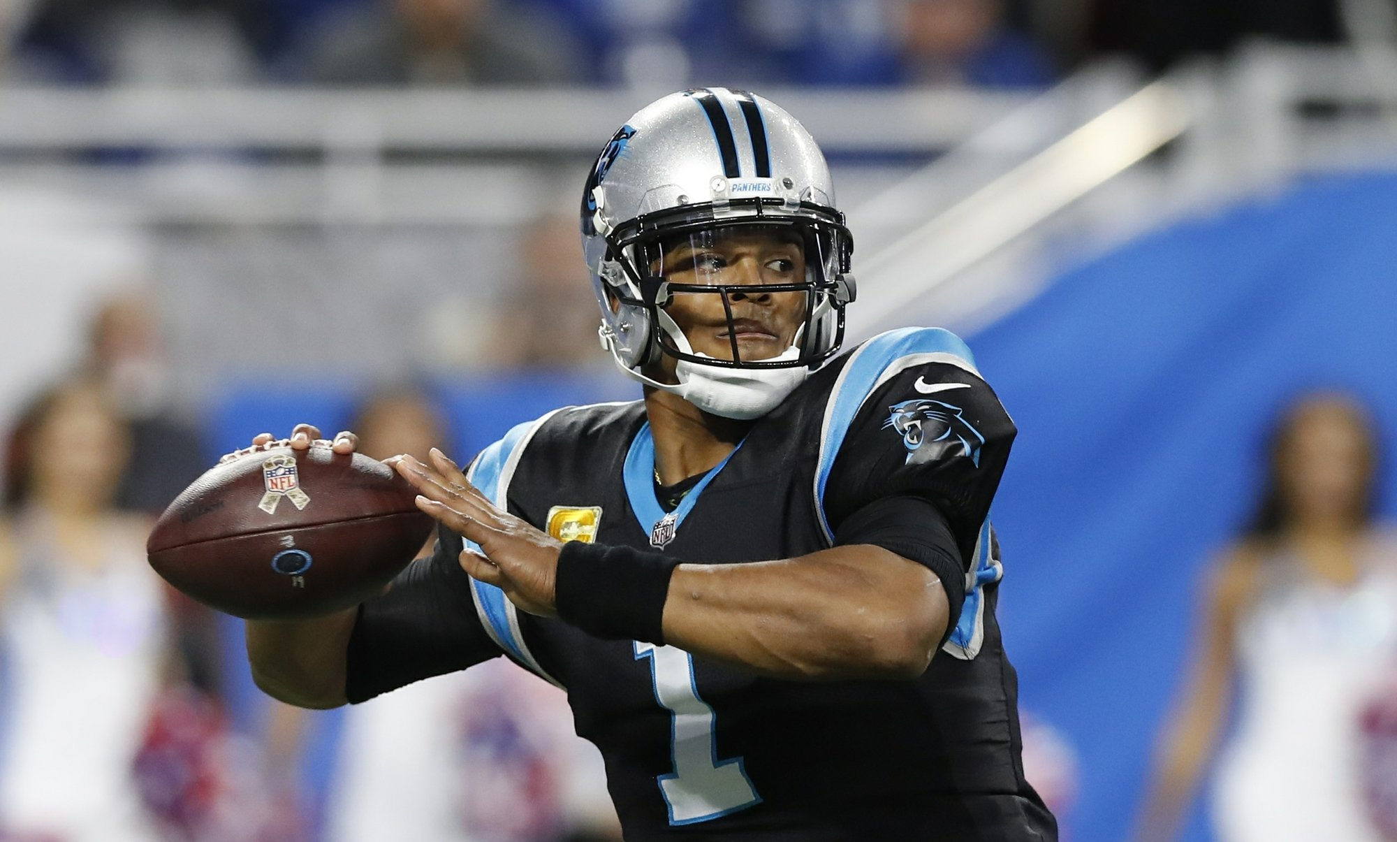 DETROIT AP Cam Newton Took A Shotgun Snap And Set Up In Clean Pocket Surveying The Field From Sideline To Star Quarterback Had Time