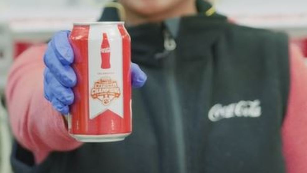Coca-Cola Clemson 'National Championship' cans headed to SC stores