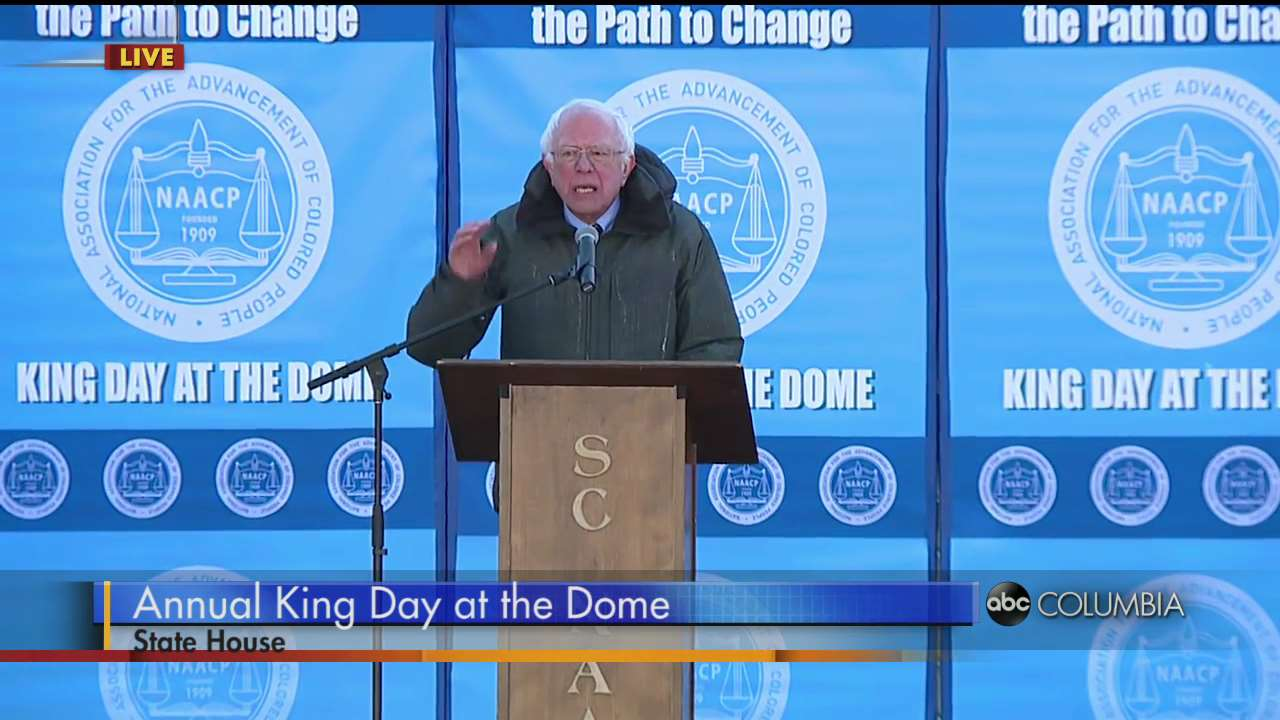 Image result for bernie sanders mlk