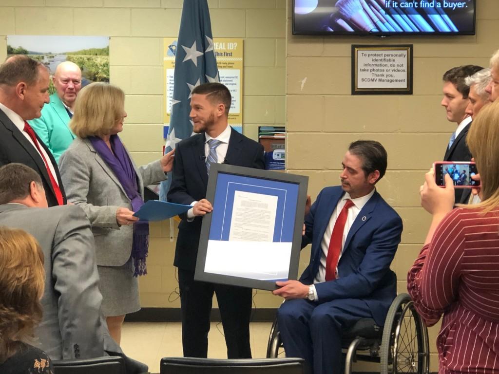 SCDMV Batesburg-Leesville branch named in honor of Medal of Honor recipient Kyle Carpenter