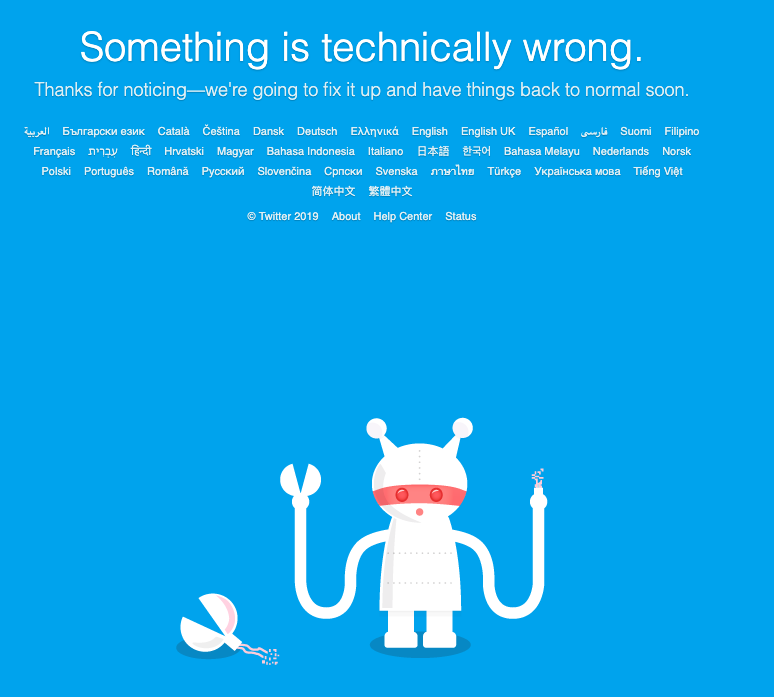 Social media giant Twitter is down, again - ABC Columbia