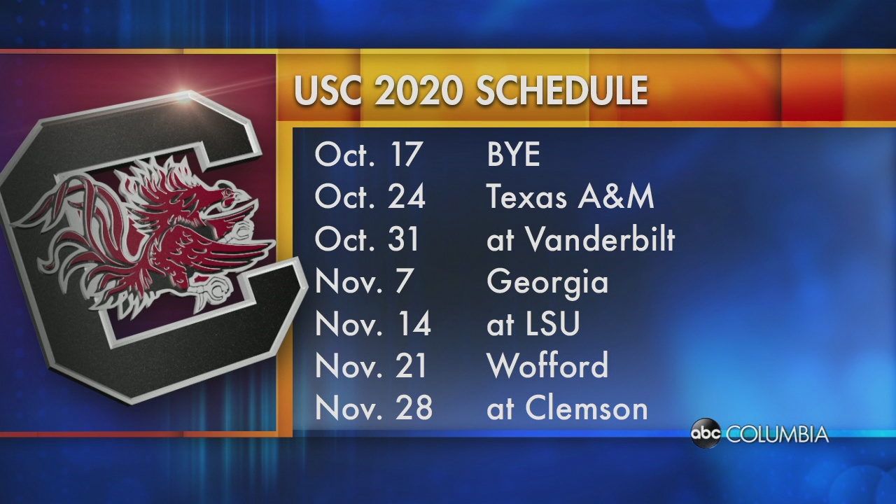 Usc Football Schedule 2020.Usc Releases 2020 Football Schedule Abc Columbia