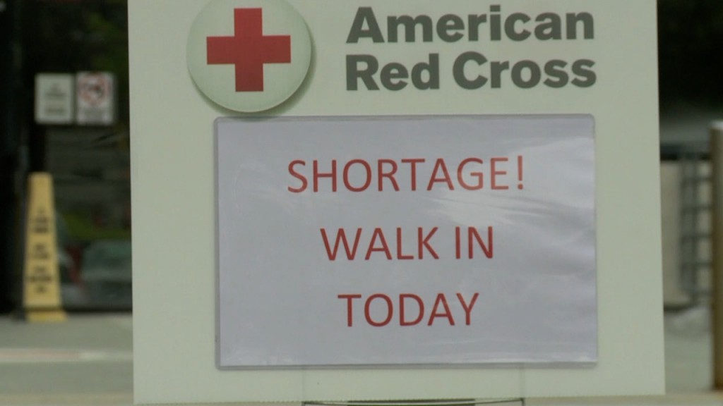 W6 P Red Cross Shortage