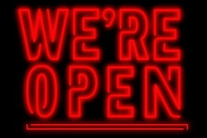 We're Open (1)
