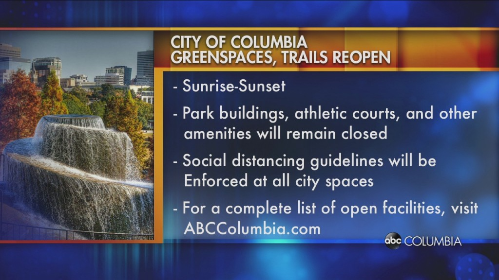 Some Green Spaces In Columbia Closed Because Of The Pandemic Will Reopen