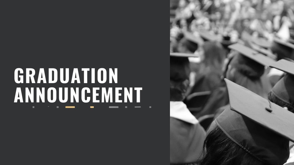 Graduation Announcement