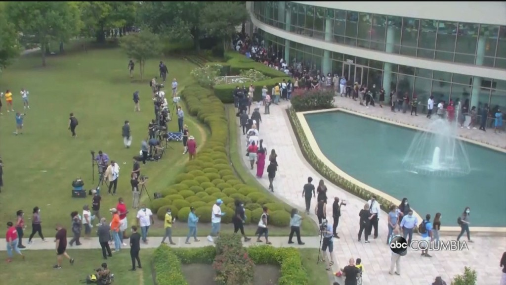 Thousands Of Mourners Pay Respect To George Floyd At Memorial In Houston