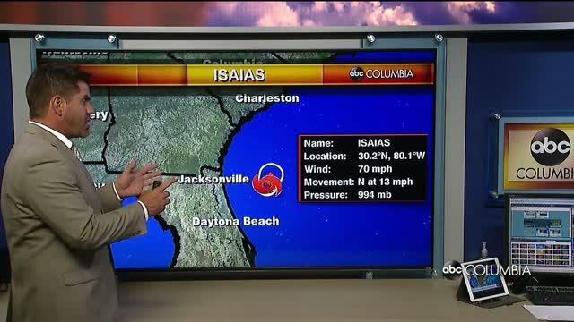 Isaias Track Forecast