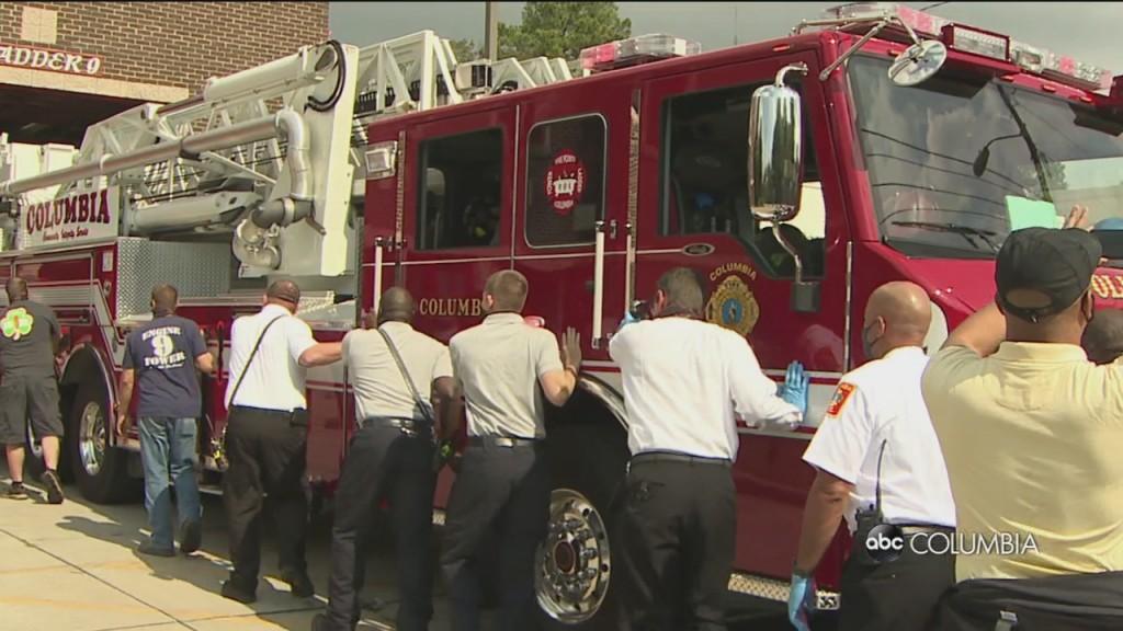 Cola Fire Truck Push