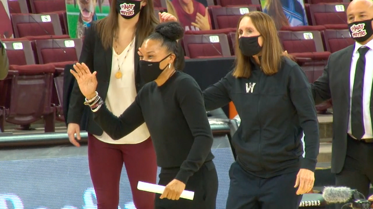 Dawn Staley mask 2020