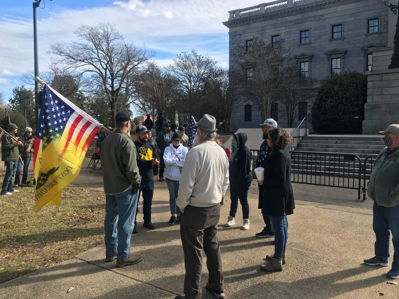 """""""Freedom of Speech"""" rally takes place at state house amid heightened security"""