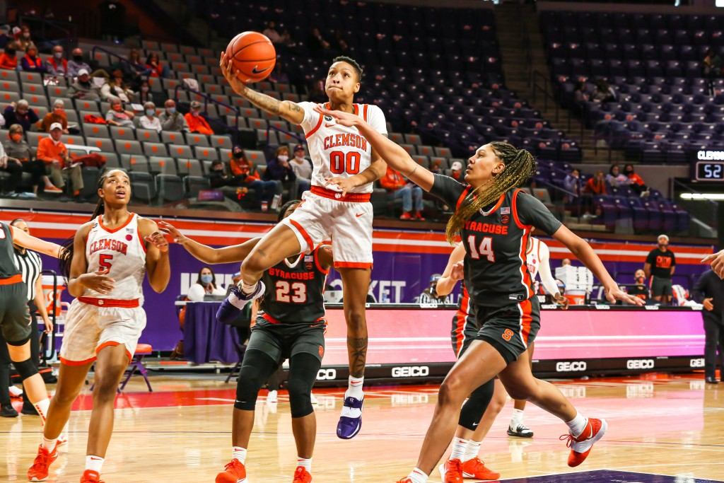 Clemson Wbb Beats Syracuse In Ot