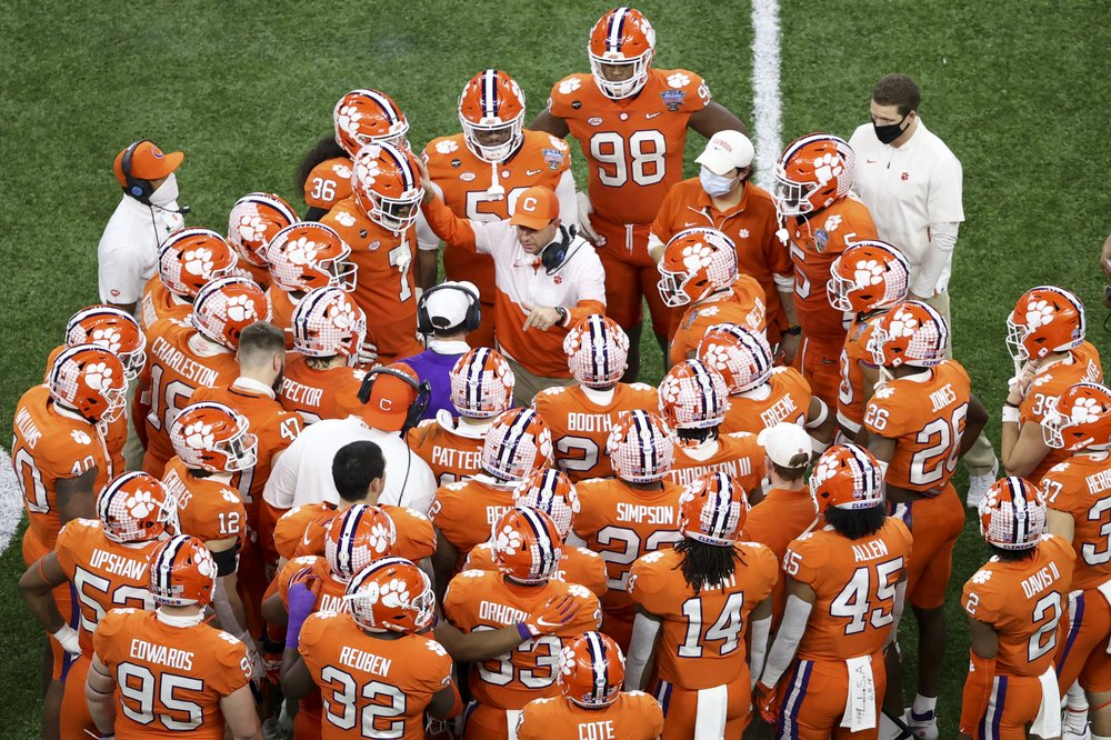 Dabo Swinney Huddle