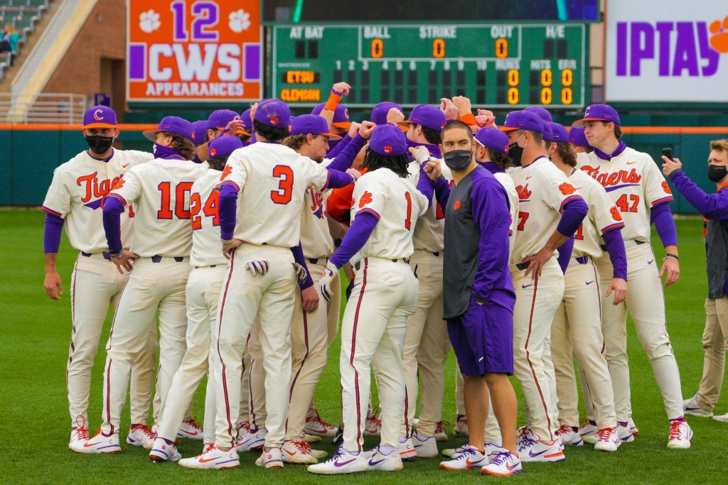 Clemson Baseball Huddle 2021